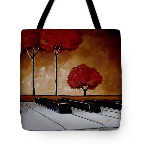 The Piano Man's Dream Tote Bag by Vickie Warner