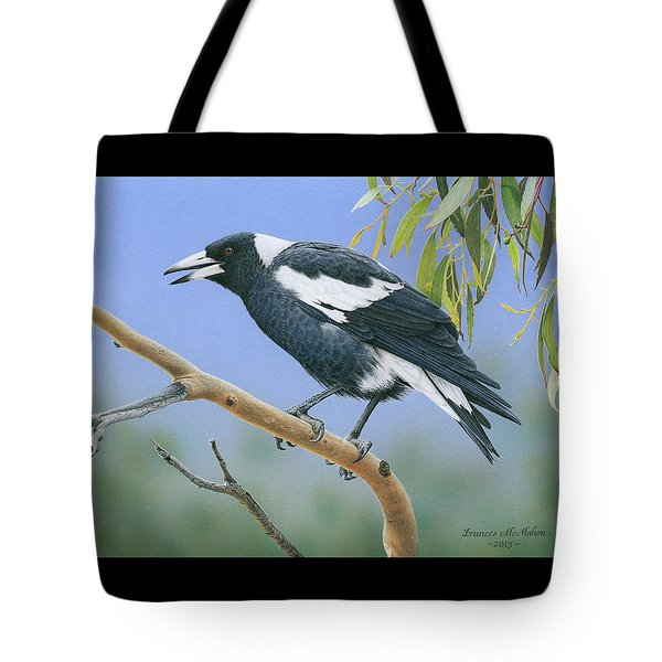 The Pied Piper - Australian Magpie Tote Bag