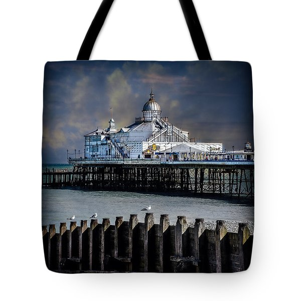 The Pier At Eastbourne Tote Bag by Chris Lord