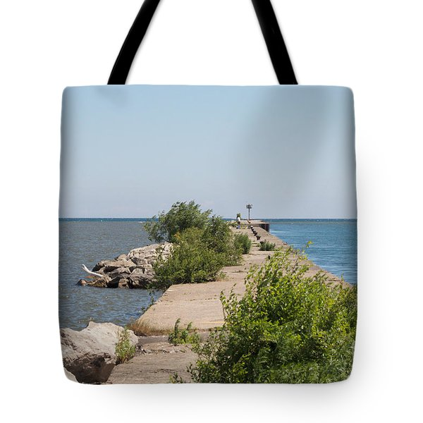 Tote Bag featuring the photograph The Pier by William Norton