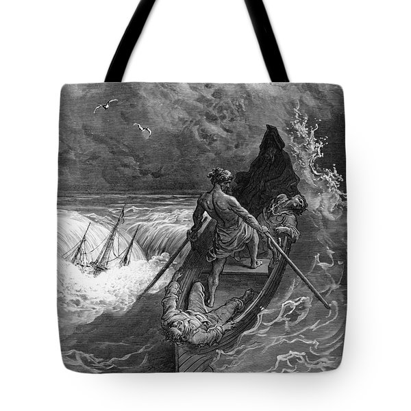 The Pilot Faints Scene From 'the Rime Of The Ancient Mariner' By S.t. Coleridge Tote Bag