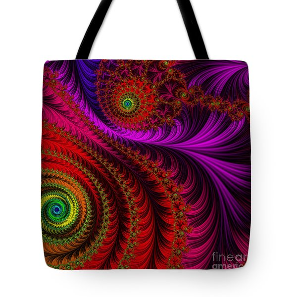 The Pink Feathers Tote Bag by Mary Machare