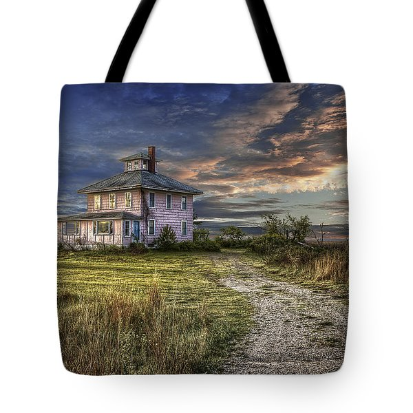 The Pink House - Color Tote Bag