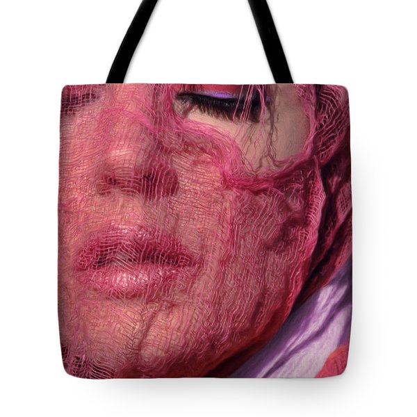 The Pink Scarf Tote Bag by Jeff Breiman