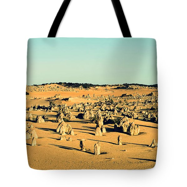 Tote Bag featuring the photograph The Pinnacles Australia by Yew Kwang