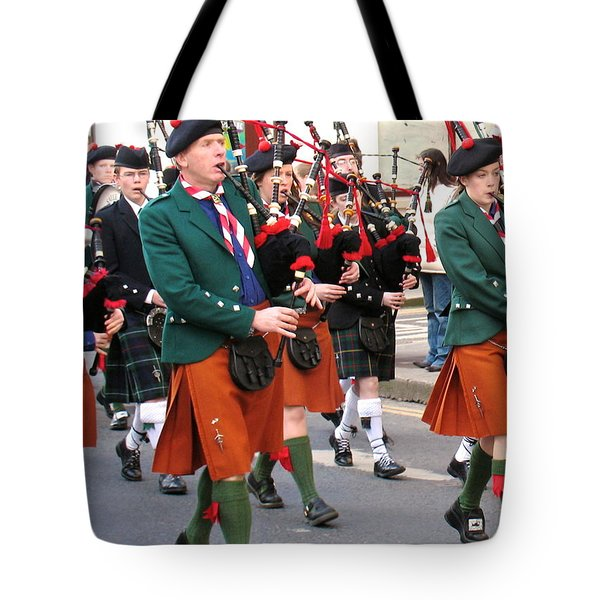 The Pipers Tote Bag by Suzanne Oesterling