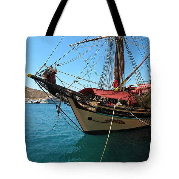 The Pirate Ship  Tote Bag