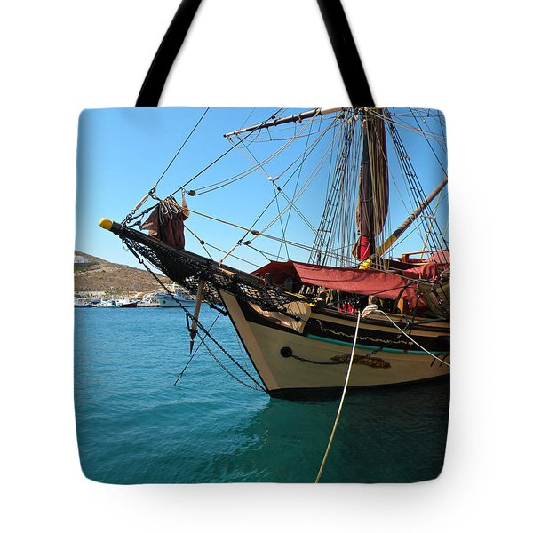 The Pirate Ship  Tote Bag by Micki Findlay
