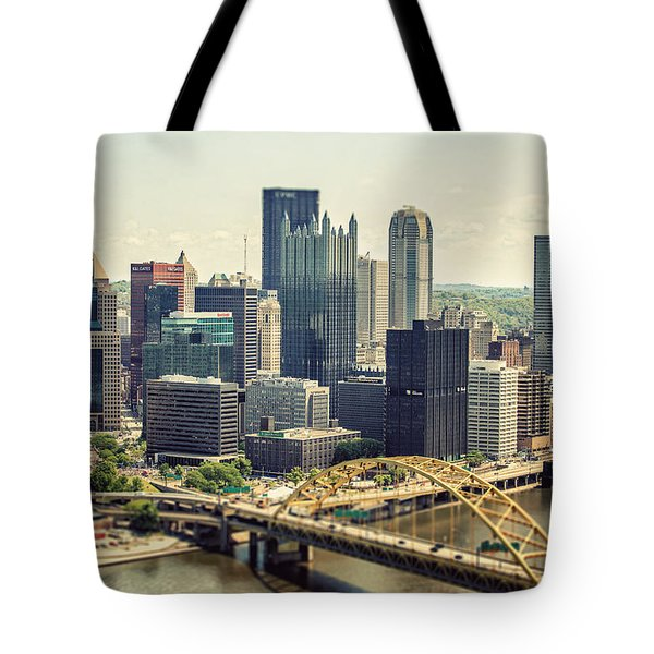 The Pittsburgh Skyline Tote Bag by Lisa Russo