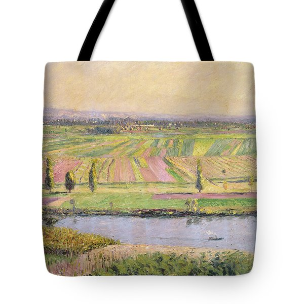 The Plain Of Gennevilliers From The Hills Of Argenteuil Tote Bag by Gustave Caillebotte