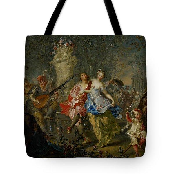The Pleasures Of The Seasons     Spring Tote Bag by Johann Georg Platzer