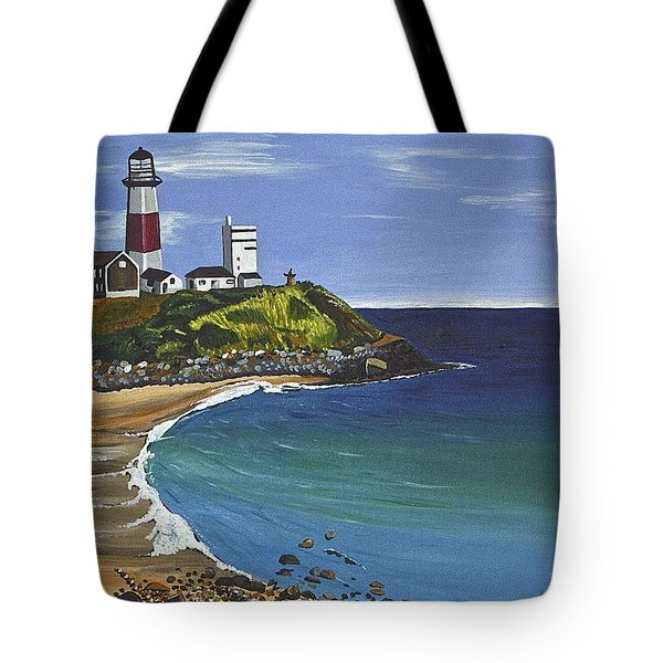 Tote Bag featuring the painting The Point by Donna Blossom