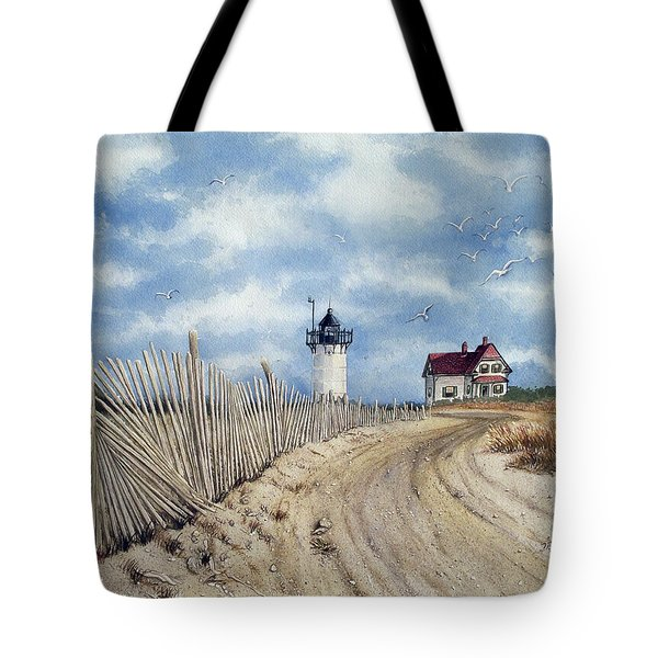 The Pole Line To Race Point Light Tote Bag