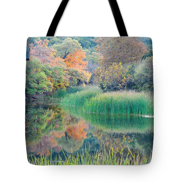 The Pond At Lost Maples State Natural Area - Texas Hill Country Tote Bag