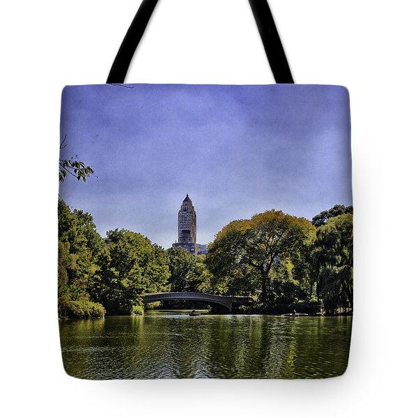 The Pond - Central Park Tote Bag by Madeline Ellis