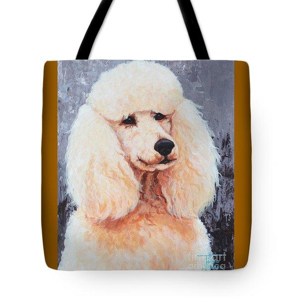 Attentive Poodle Tote Bag