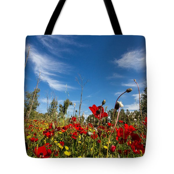The Poppies Field Tote Bag