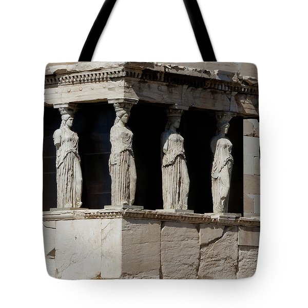 Tote Bag featuring the photograph The Porch Of Maidens by Lorraine Devon Wilke