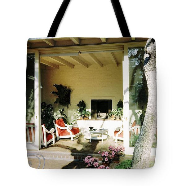The Porch Of Mr. And Mrs. George L. Elkins Tote Bag