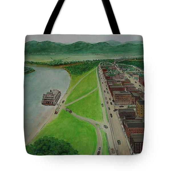 The Portsmouth Ohio Boneyfiddle District 1948 Tote Bag by Frank Hunter