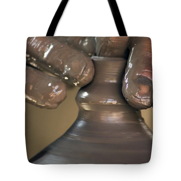 The Pot Thrower #1 Tote Bag by Nola Lee Kelsey