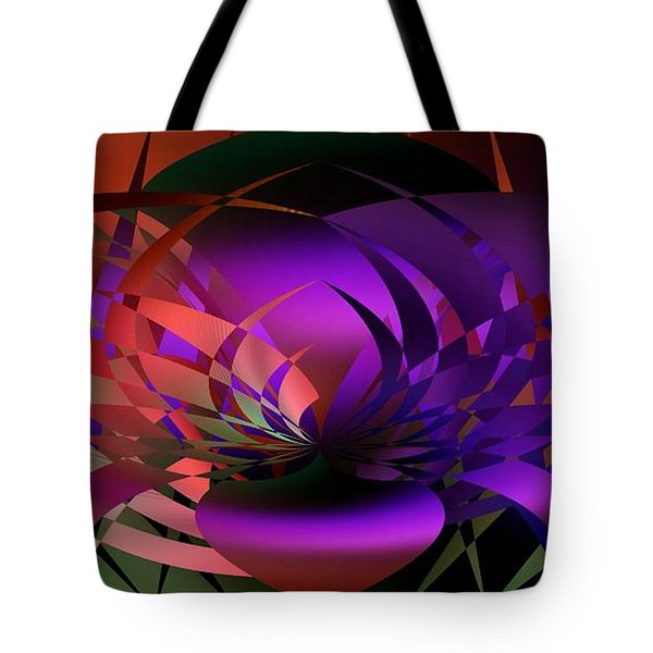 Tote Bag featuring the digital art the Potted Plant by rd Erickson