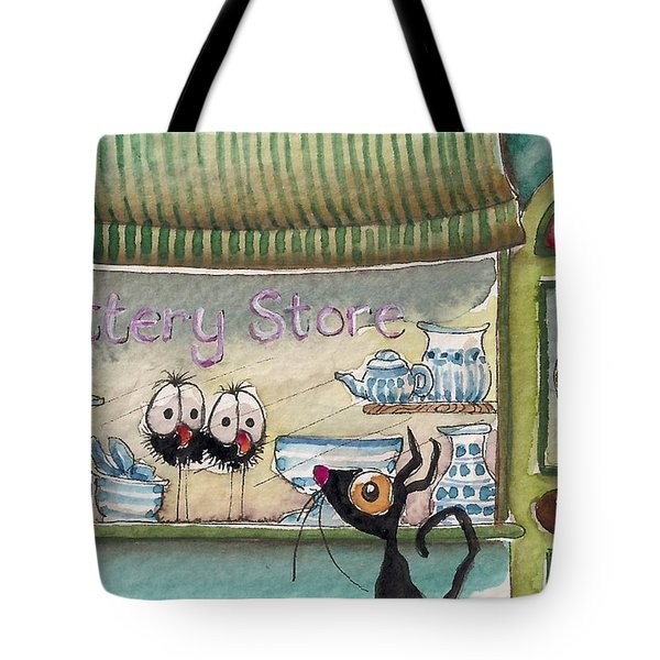 The Pottery Store Tote Bag by Lucia Stewart