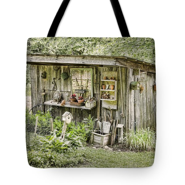The Potting Shed Tote Bag by Heather Applegate