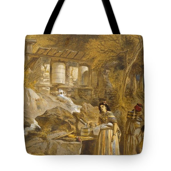 The Praying Cylinders Of Thibet Tote Bag by William 'Crimea' Simpson