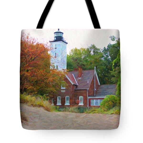 The Presque Isle Lighthouse Tote Bag