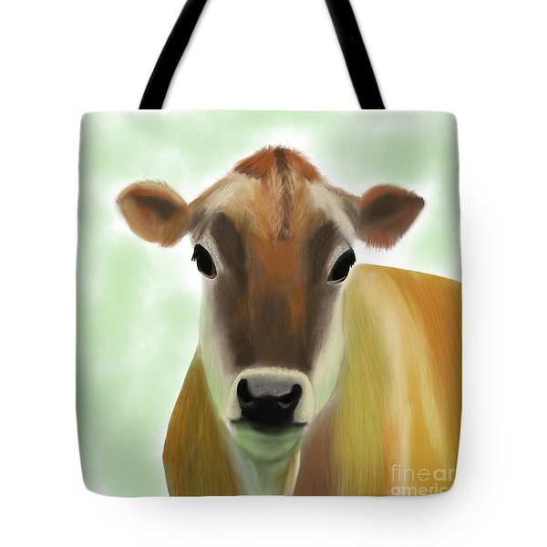 The Pretty Jersey Cow  Tote Bag