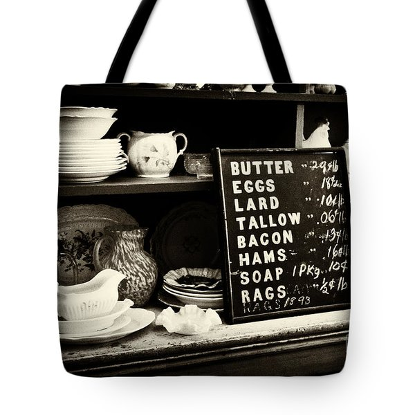 The Price List Tote Bag by Paul W Faust -  Impressions of Light