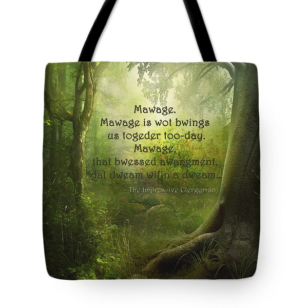 The Princess Bride - Mawage Tote Bag