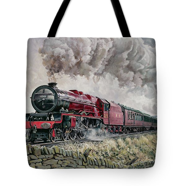 The Princess Elizabeth Storms North In All Weathers Tote Bag by David Nolan