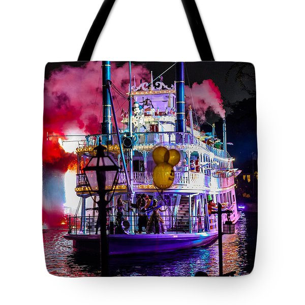 The Mark Twain Disneyland Steamboat  Tote Bag