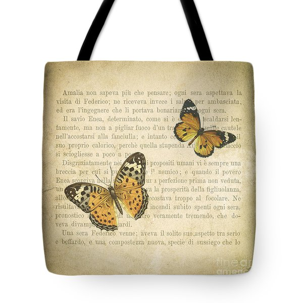 The Printed Page 8 Tote Bag by Jan Bickerton