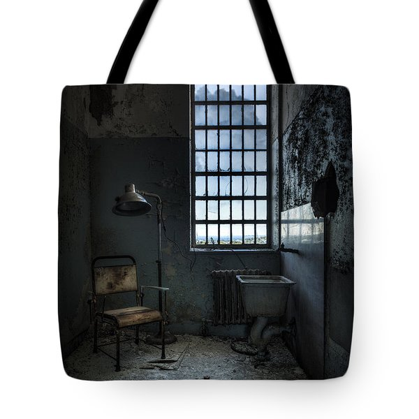 Tote Bag featuring the photograph The Private Room - Abandoned Asylum by Gary Heller