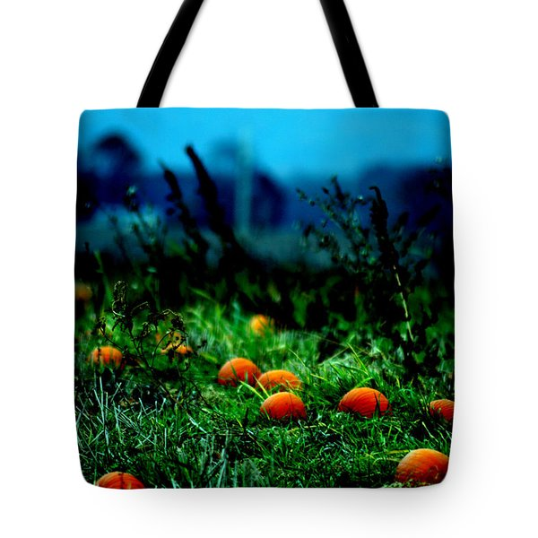 Tote Bag featuring the photograph The Pumpkin Patch by Lesa Fine