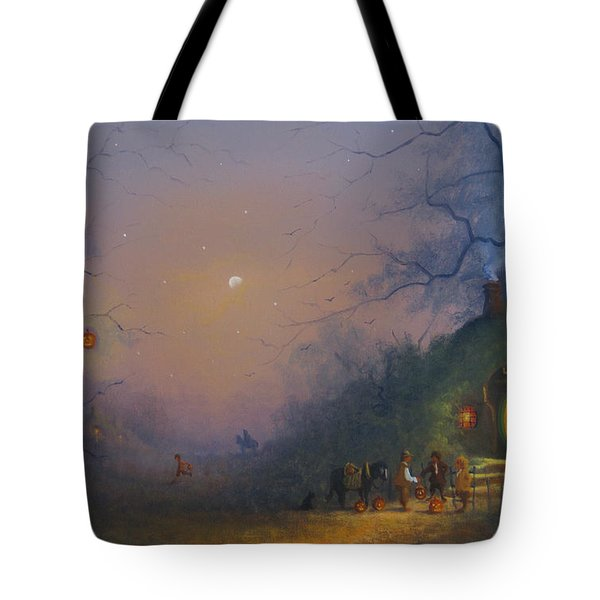 A Hobbits Halloween. The Pumpkin Seller. Tote Bag by Joe Gilronan