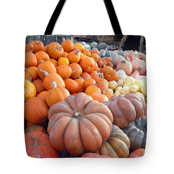 Tote Bag featuring the photograph The Pumpkin Stand by Richard Reeve