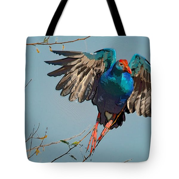 The Purple Swamphen Tote Bag