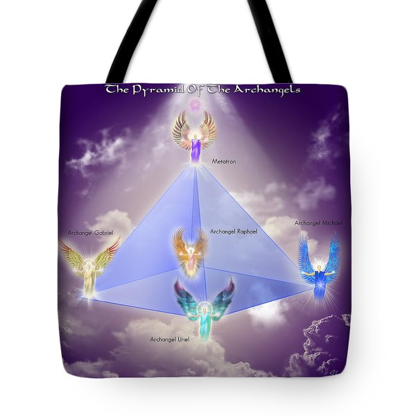 The Pyramid Of The Archangels Tote Bag