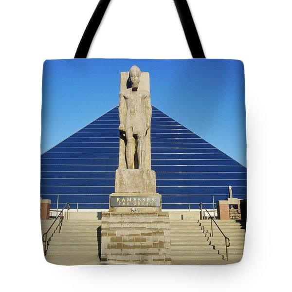 The Pyramid Sports Arena In Memphis, Tn Tote Bag