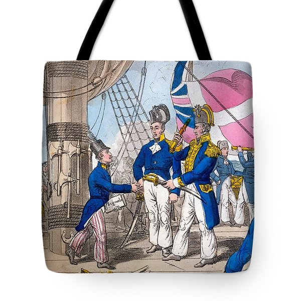 The Quarter Deck Before Battle, Plate Tote Bag