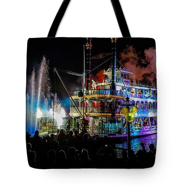 The Mark Twain Disneyland Steamboat  Tote Bag