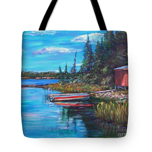 The Quiet Place Tote Bag by Li Newton