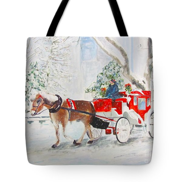 The Quiet Ride Tote Bag by Beth Saffer