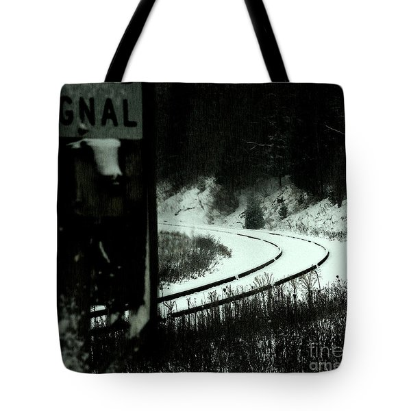 The Rail To Anywhere Tote Bag by Linda Shafer