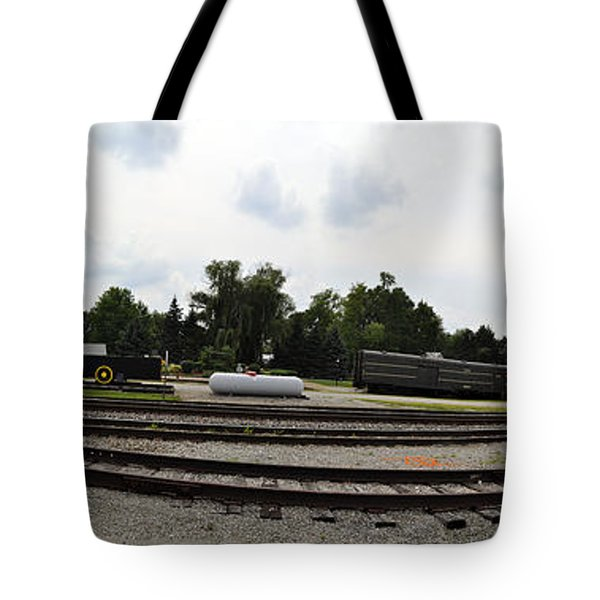 Tote Bag featuring the photograph The Railroad From The Series View Of An Old Railroad by Verana Stark