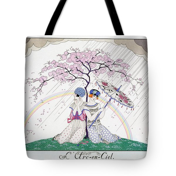 The Rainbow Tote Bag by Georges Barbier